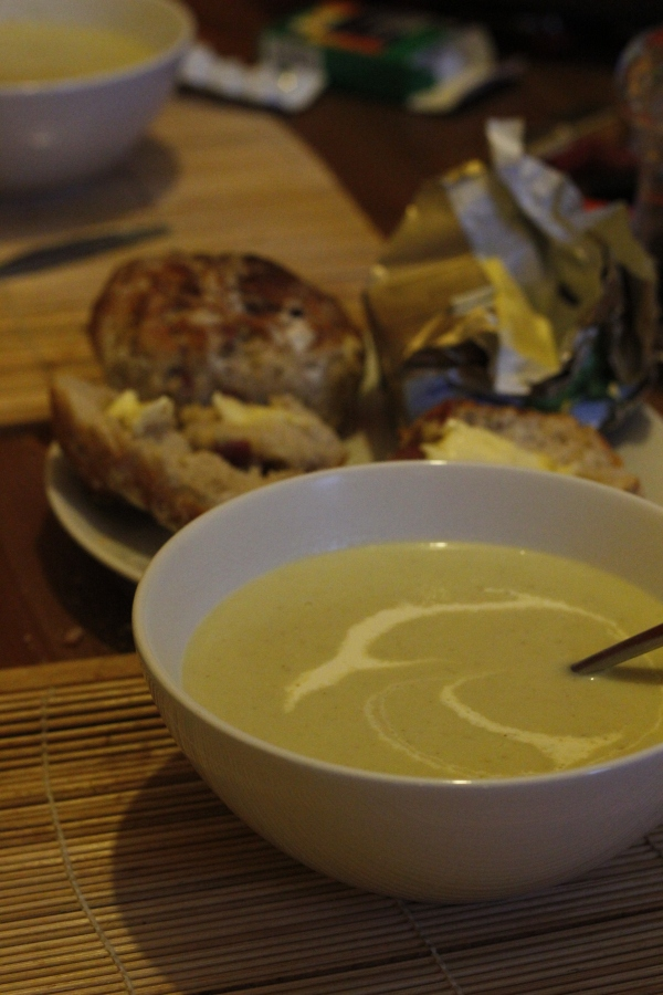 The soup was creamy and delicious! Definitely not as healthy as the name would suggest, no negative calories here...