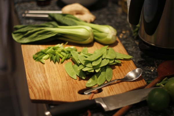 Our chopping board doesn't get much healthier