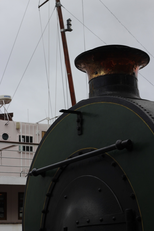 The steam train at the harbourside