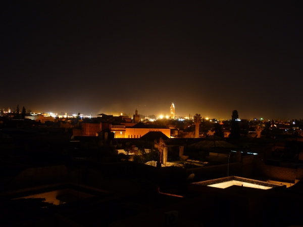 The view from the roof terrace of our riad, one of the best views in Marrakech!
