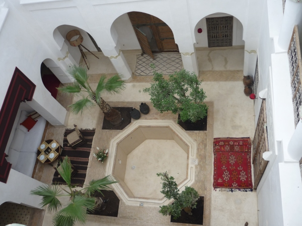 Bird's eye view of our beautiful riad - can you spot the tortoise?