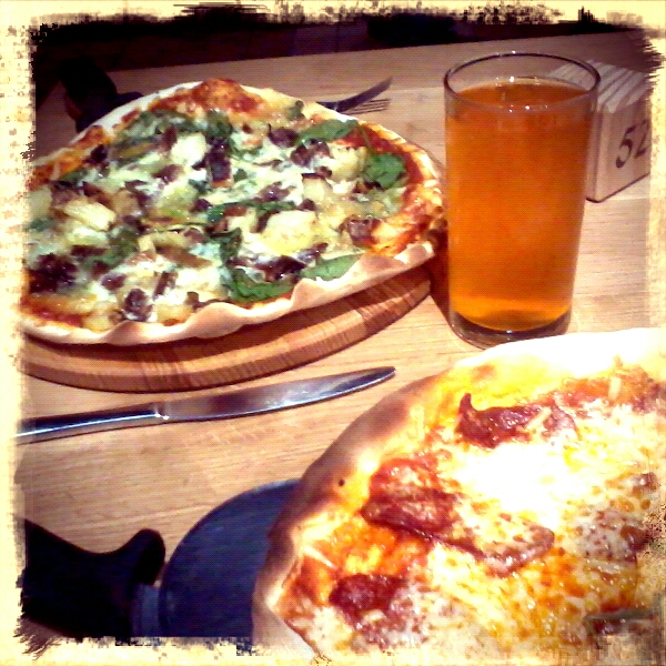 Pizza and Cider - inspired combination!