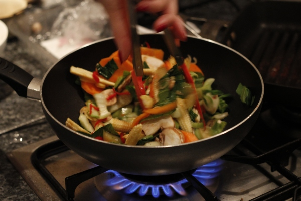 Granny Bird's old wok still going strong