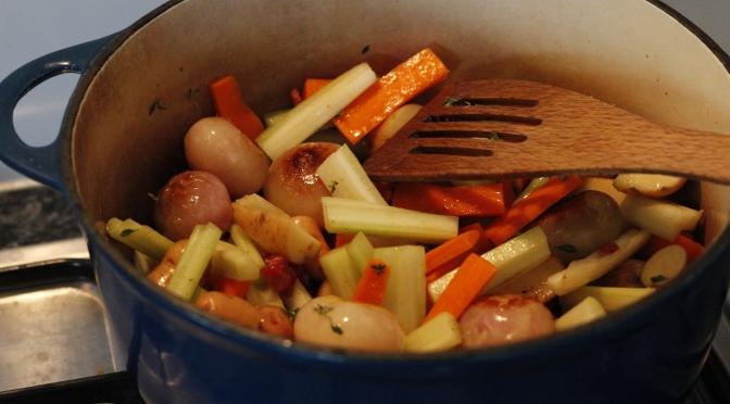 Rabbit Stew with Sage Dumplings