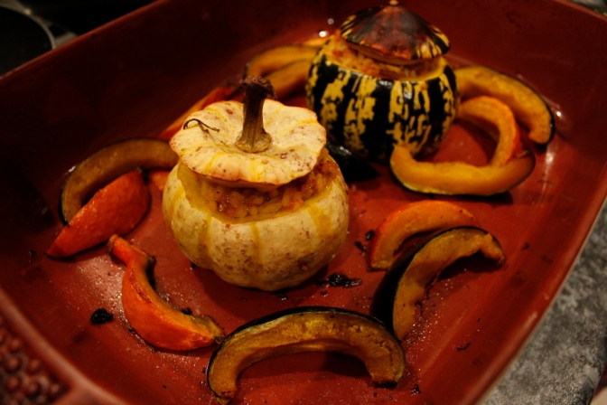 Mini Squash stuffed with Sausage and Fennel