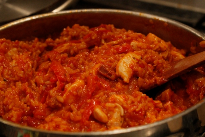 Quick Chicken and Chorizo Jambalaya