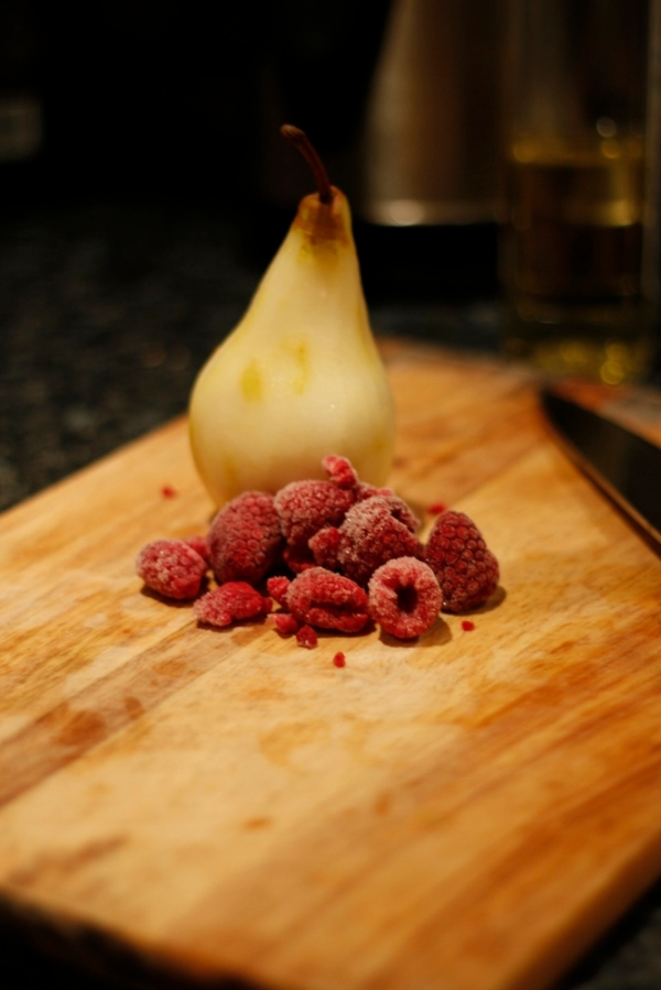 Raspberry and Pear