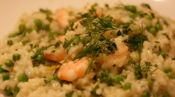 Pea and King Prawn Risotto