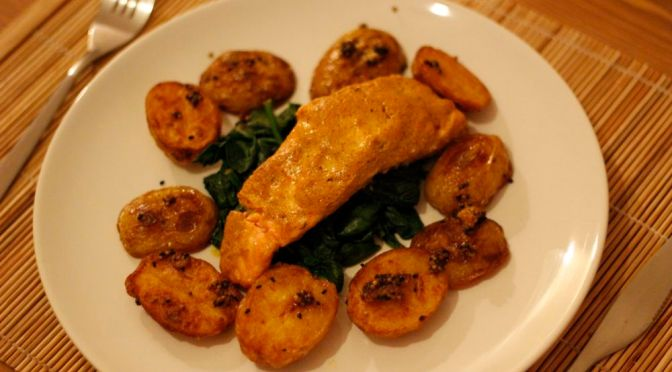 Indian Spiced Baked Salmon