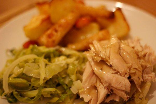 Finished pot roast chicken