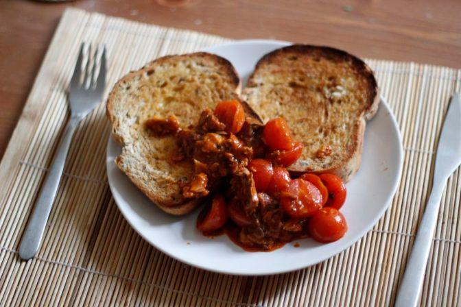 Posh Sardines & Tomatoes on Toast