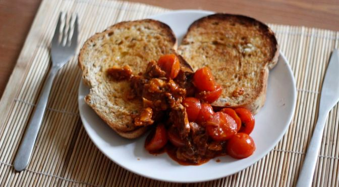Posh Sardines & Tomatoes on Toast