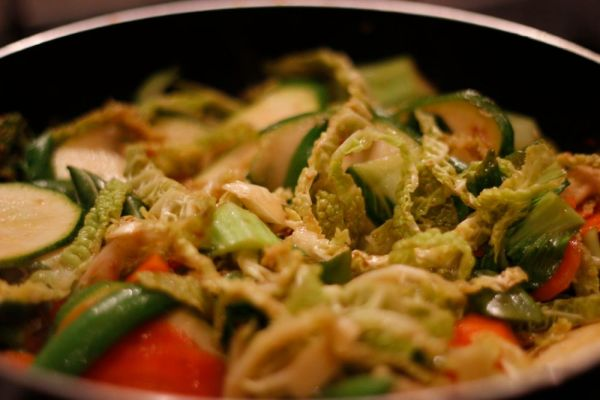 Veg being Stir-Fried