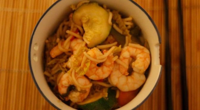 King Prawn Stir-Fry with Tamarind and Oyster Sauce