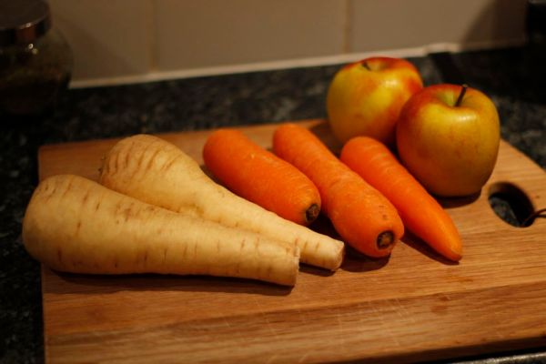 Parnsips, carrots and apples