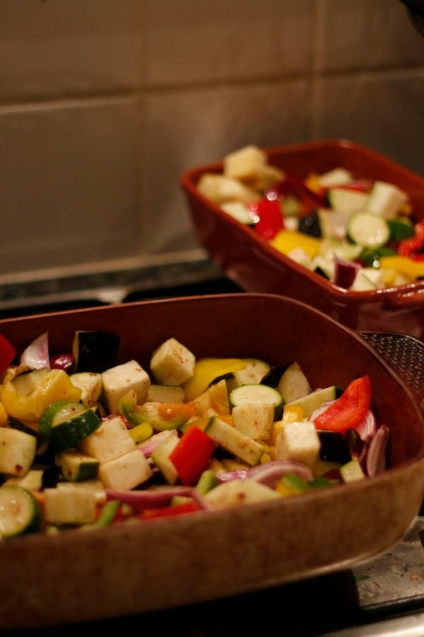 Roasted Moroccan Veg