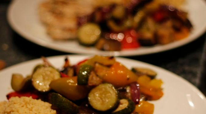Chargrilled Chicken with Za'atar and Roasted Spiced Vegetables