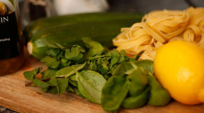 Courgette Ribbon Tagliatelle