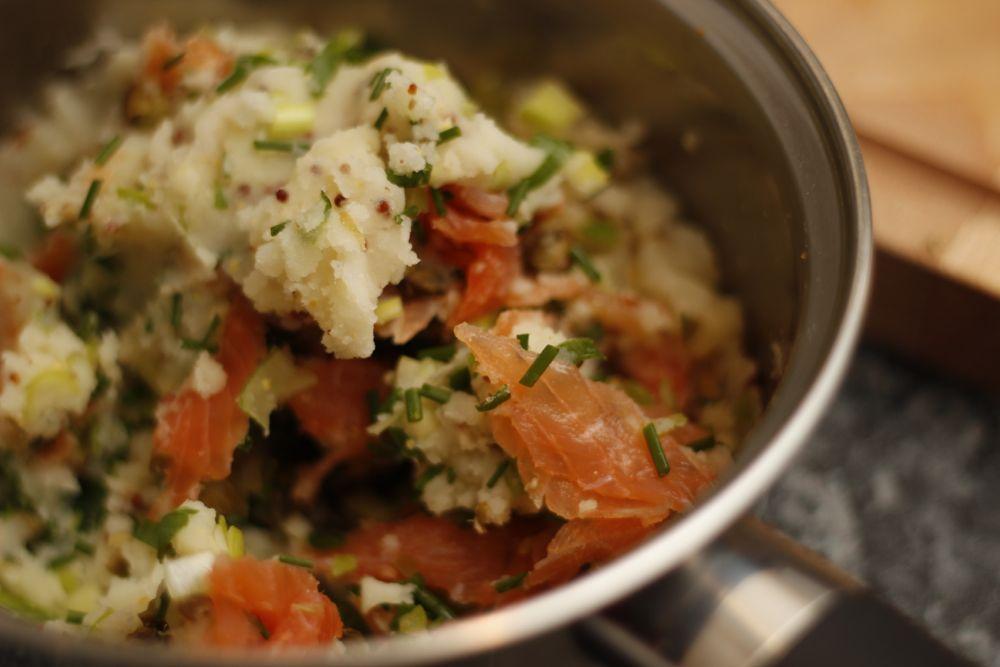 Salmon fishcake mixture