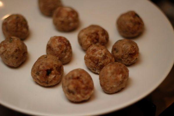 Tuscan Sausage Meatballs