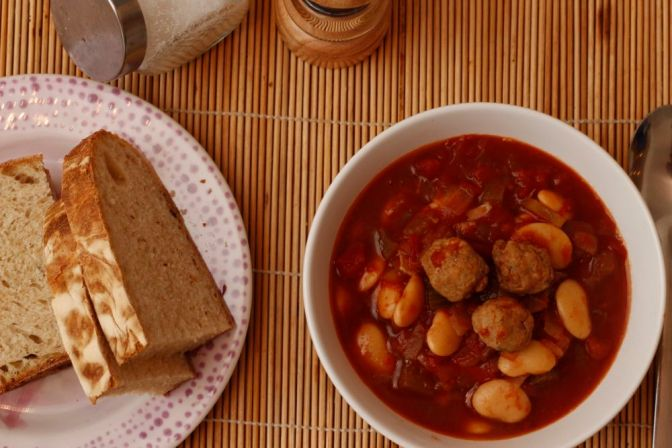Tuscan-style Sausage & Bean Soup