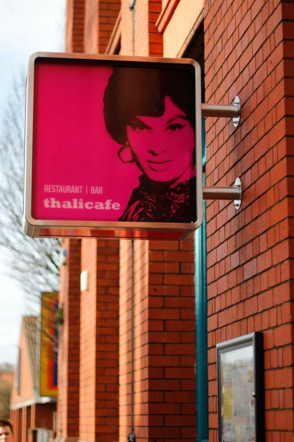 Thali Café Sign
