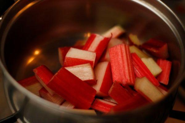 Rhubarb In Pan
